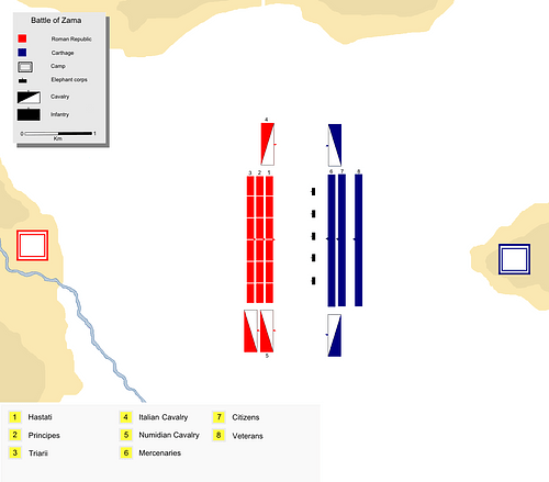 The Battle of Zama - Troop Deployment