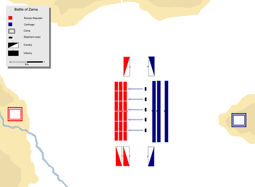 The Battle of Zama - Start of the Battle