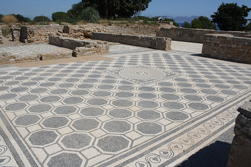 Hexagonal Mosaic Flooring, Empuries