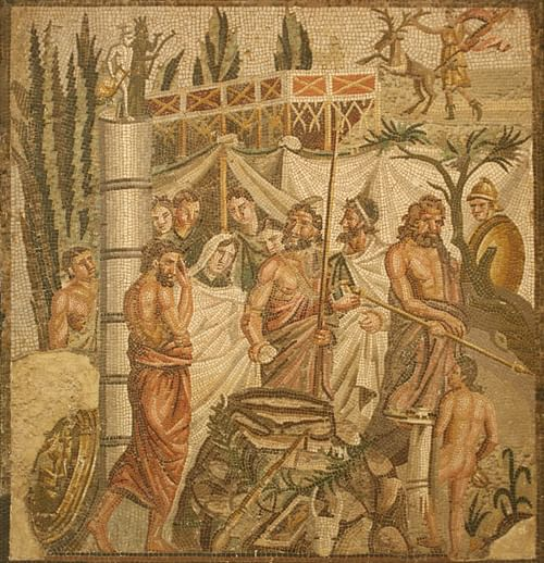Myth of Iphigenia Mosaic, Empuries