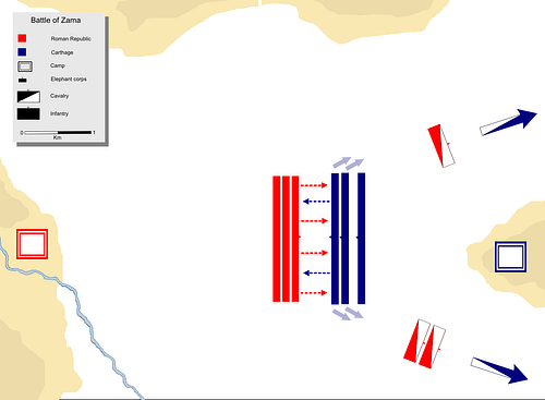 The Battle of Zama - Scipio's Attack