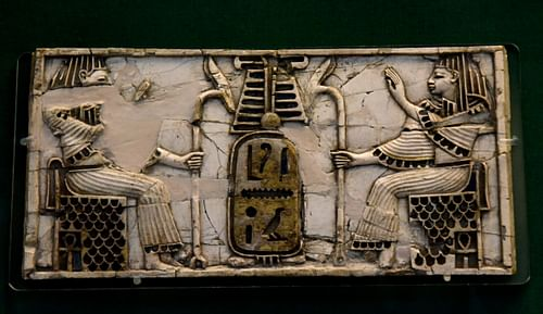 Nimrud Ivory Plaque of Two Seated Figures