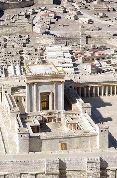 Model of Herod's Renovation of the Temple of Jerusalem (by Berthold Werner, Public Domain)