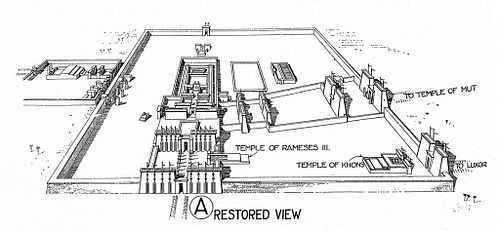 Temple of Amun Plan, Karnak