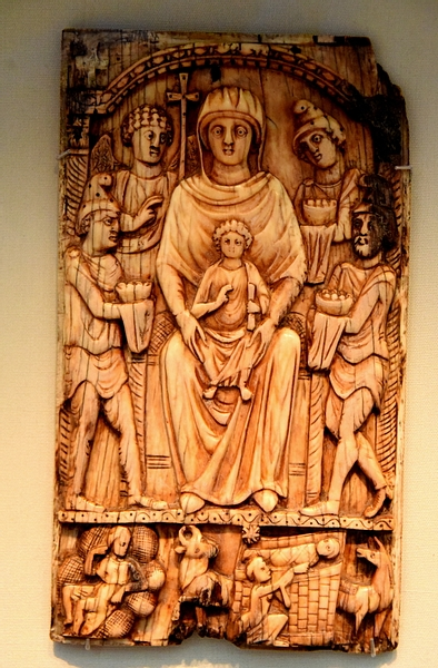 Byzantine Ivory Panel Depicting the Adoration of the Magi
