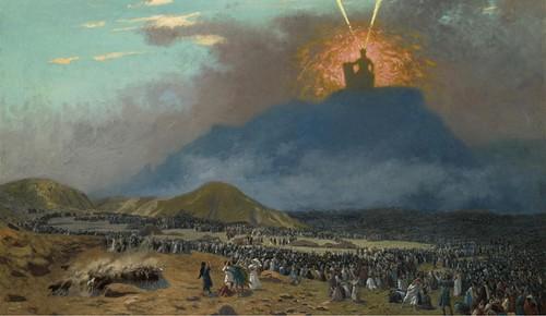 Moses on Mount Sinai (by Jean-Léon Gérôme, Public Domain)