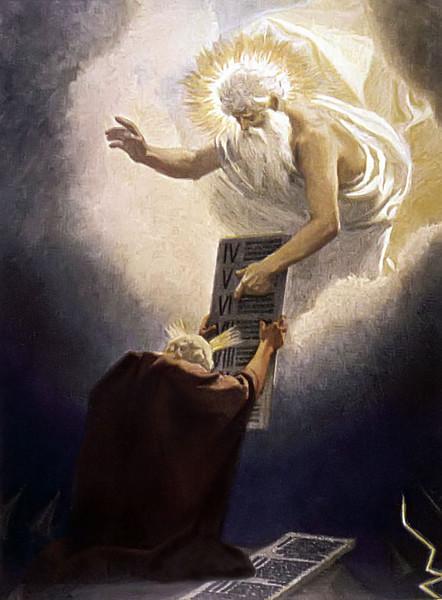 Moses Receives the 10 Commandments