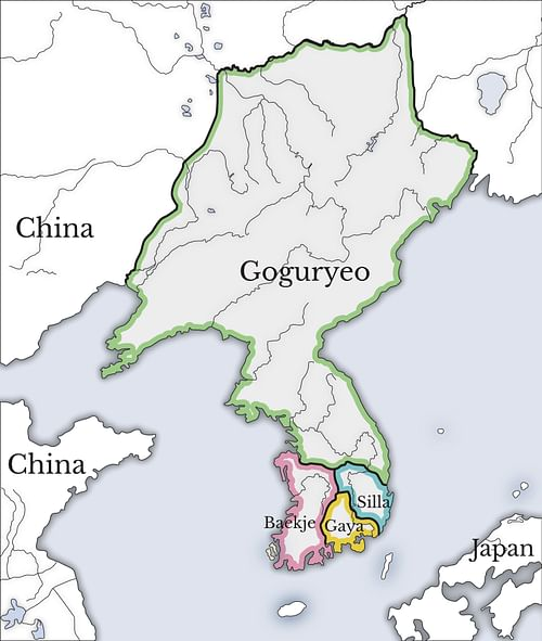 Three Kingdoms of Korea Map