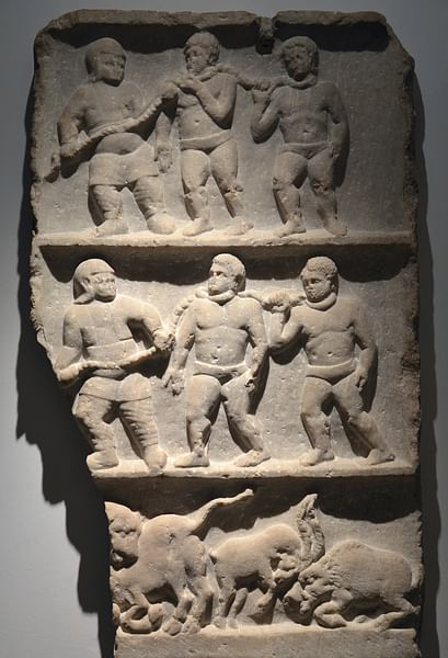 Roman Slaves Relief Slab