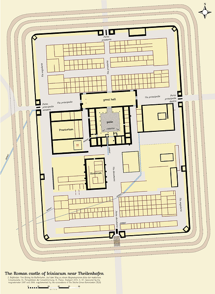 Plan of a  Typical Roman Fort