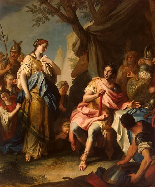 Alexander The Great and Roxane (by Pietro Antonio Rotari)