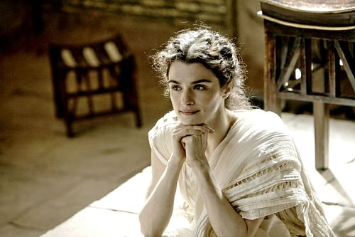 Rachel Weisz as Hypatia of Alexandria (by Focus Features, Newmarket Films, Telecinco Cinema, Copyright, fair use)