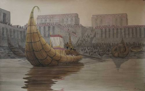 Representation of the Port of Eridu (by Таис Гило, Public Domain)