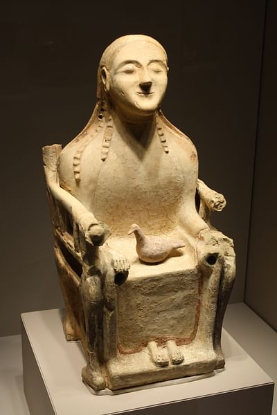 Seated Demeter Figurine