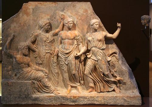 Zeus, Leto, Apolo e Artemisa