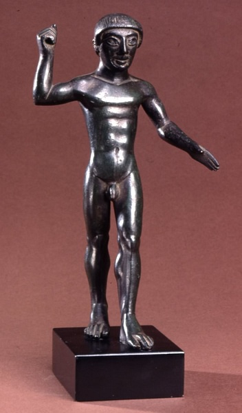 Etruscan Bronze Youth Statuette