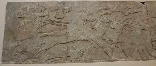 Ashurbanipal II Attacking Enemy Archers