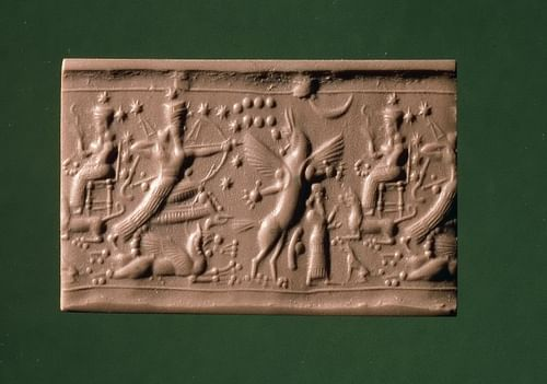 Cylinder Seal with Ninurta (by The Trustees of the British Museum)