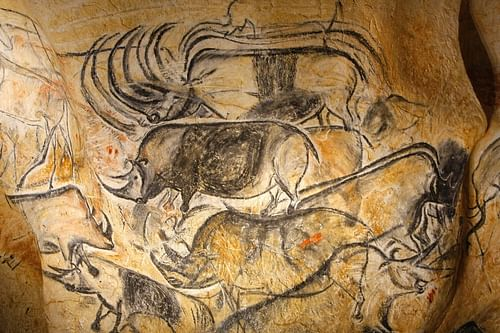 Panel of the Rhinos, Chauvet Cave (Replica) (by Patilpv25, CC BY-SA)