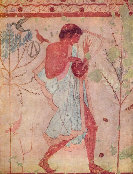 Musician, Tomb of the Triclinium, Tarquinia