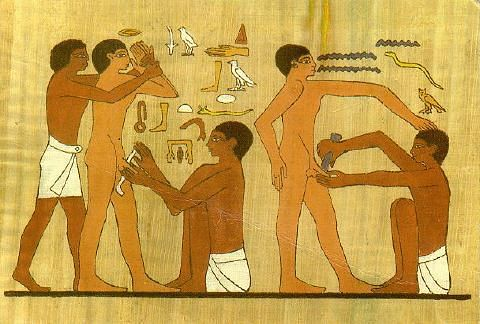 Egyptian Circumcision (by Unknown Artist, Public Domain)
