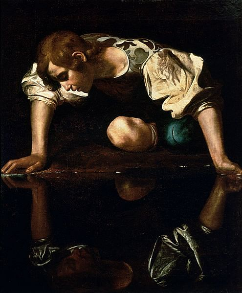 Narcissus (by Caravaggio, Public Domain)