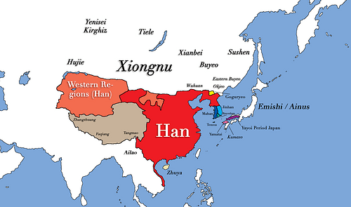 East Asia in the year 1 CE