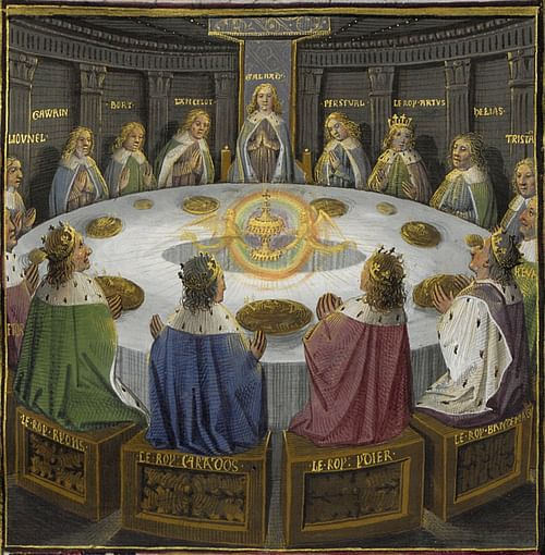 Knights of the Round Table (by Evrard d'Espinques, Public Domain)