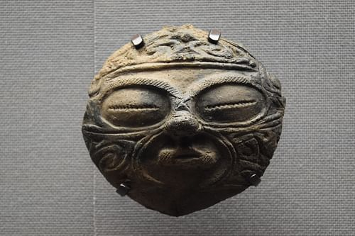 Jomon Clay Mask (by James Blake Wiener, CC BY-NC-SA)