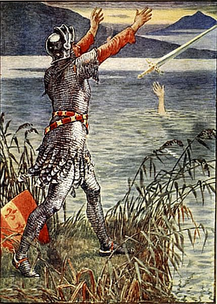 Sir Bedevere Returns Excalibur to the Lake
