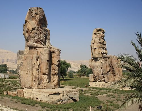 The Colossi of Memnon (by Kora27)