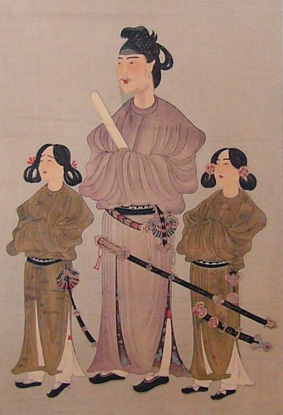 Prince Shotoku Painting (by Unknown Artist, Public Domain)