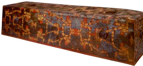 Chinese Lacquered Coffin