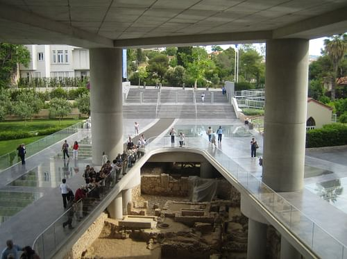 Excavation under the Acropolis Museum