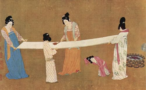 Women Checking Silk, Song China.