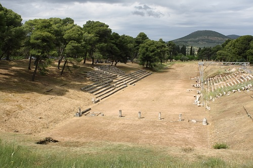 Stadium of Epidaurus (by Mark Cartwright, CC BY-NC-SA)