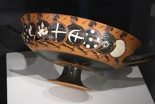 Kylix with Black-Figure Hoplites