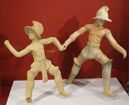 Roman Terracotta Gladiators (by Mark Cartwright, CC BY-NC-SA)