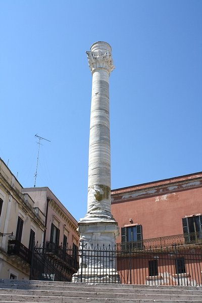 End of the Appian Way Column Marker