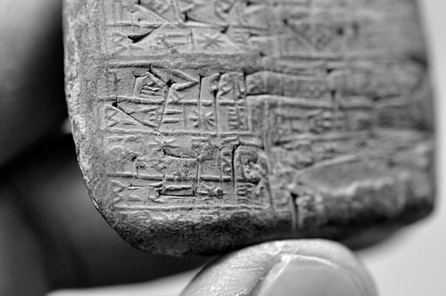 Detail, Illegally Excavated Mesopotamian Clay Tablet
