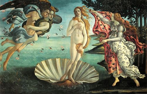 The Birth of Venus by Botticelli (by Sandro Botticelli, CC BY-SA)