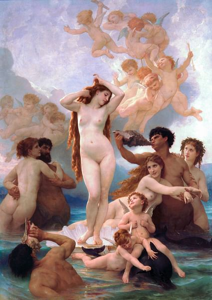 The Birth of Venus by Bouguereau (by William-Adolphe Bouguereau)