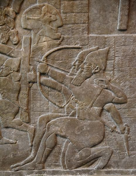 Assyrian Archers Attacking a City