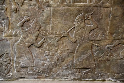 Assyrian Soldiers with Iron Crowbars