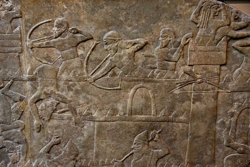 Assyrian Army Assaulting a City