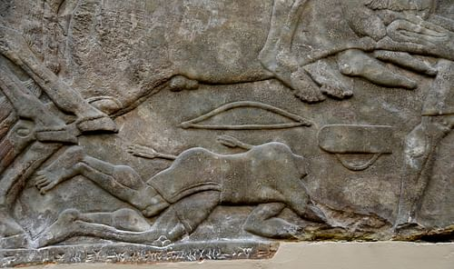 Decapitated Soldier, Assyrian Relief