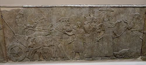 Ashurnasirpal II After Winning a Battle