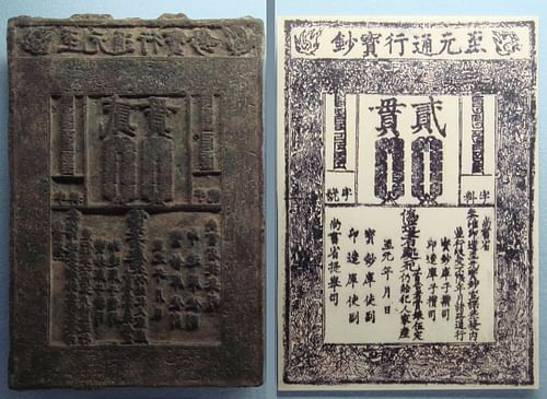 Yuan Dynasty Bank Note & Plate