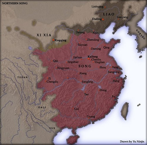 Northern Song Dynasty Map