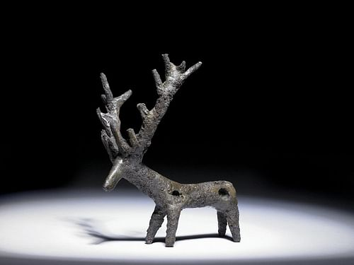 Persian Copper Stag Pendant (by The British Museum, Copyright)